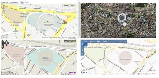 Maps Compare - Área Alvo Maracanã