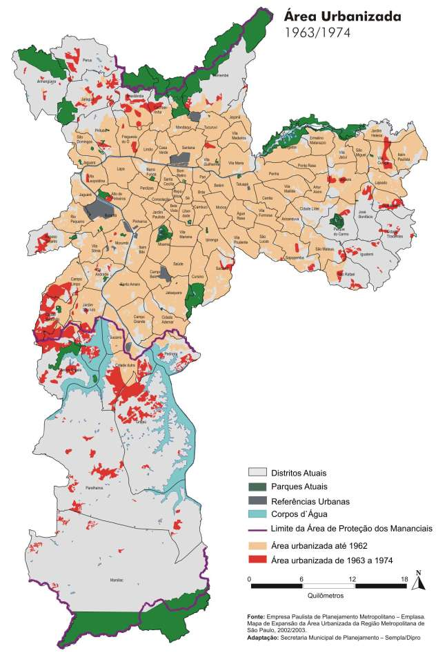 Área Urbanizada 1963/1974