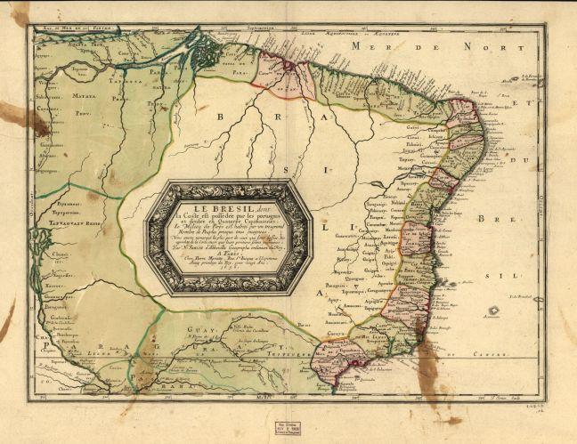 Le Bresil , 1656 (Cartes générales de toutes les parties du monde)