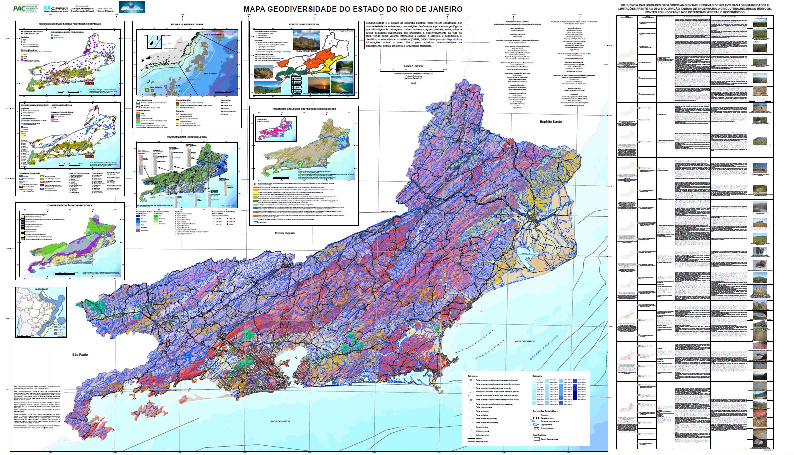 Geodiversidade Do Rio De Janeiro Mapa E Sig